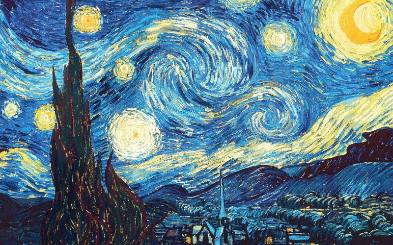 Van Gogh, la nuit étoilée 1888