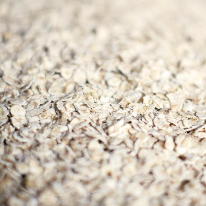 Flocon d'avoine pour barre de céréales à la spiruline